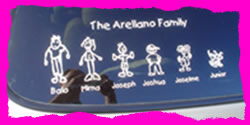Family Car Sticker Example
