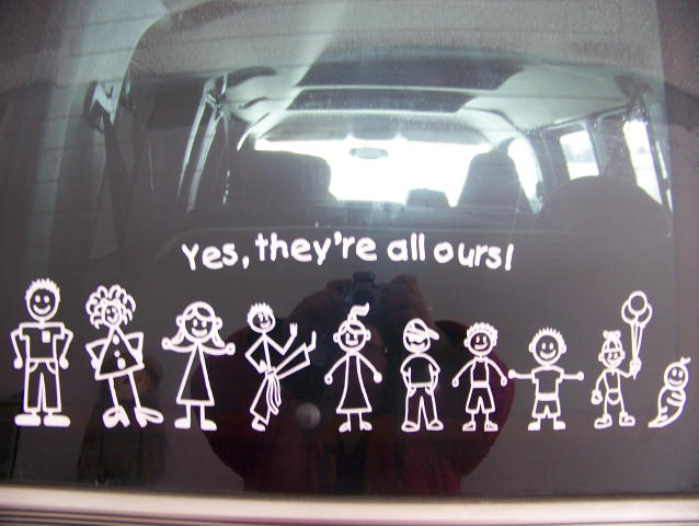 Cool family car stickers
